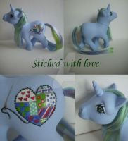 My little Pony Custom G1 Stiched with love by BerryMouse