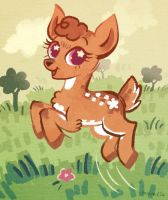 My Little Deer by flutterdoodle