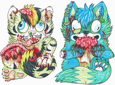 Zombie badges by RazorCookie