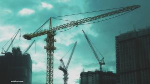 construction crane by mclelun