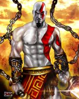 God of War: KRATOS by Steven-H-Garcia