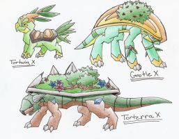 Turtwig Evolution Series X by CelestialTentails