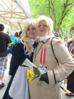 My little sister and me at AnimeNext 2013 by BabyFaceCrossbones