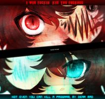 Mad!Cry vs. Virus!Cry by Nadi-Chan