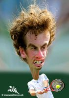 Andy Murray Caricature by kiddac