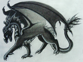 Charcoal Dragon by xiShadowWolfx