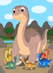 Littlefoot and his Tiny Longneck friends by MCsaurus