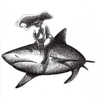 She swims with sharks by EnjoyPorno