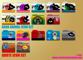 Vector Demented Icon Set 2 by meesh23