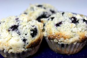 Lemon Poppy Seed Blueberry muffins by SilverDragon2050
