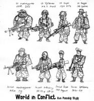 Soldiers of World in Conflict by Sanity-X