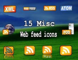 15 misc web feed icons by zman3