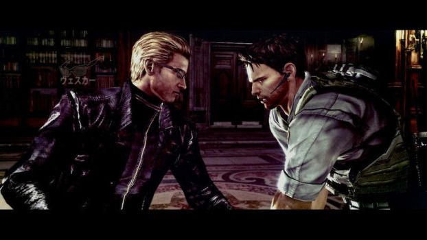 Wesker and Chris 4 by Captain-AlbertWesker