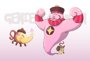Commish: Genie fakemon by EstevaoPB