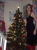 Me and our Christmas tree by ZeldAlice