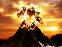 Fire Upon Mount Hyjal by Heavenslight180
