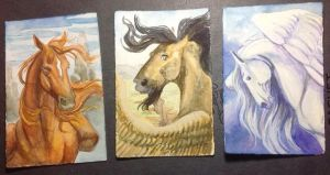 Mythical Equine Cards - Skies Set by lunatteo