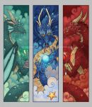 Dragon Bookmarks by -lildragon-