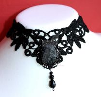 Black Mermaid Choker by Pinkabsinthe