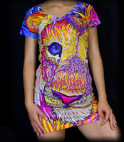 Kaleidoscopic King Ravenectar Dress by PaintMyWorldRainbow