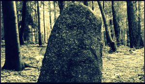 a menhir somewhat close up by czmartin
