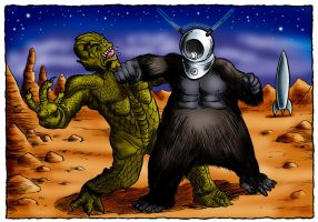 It vs Robot Monster by Loneanimator