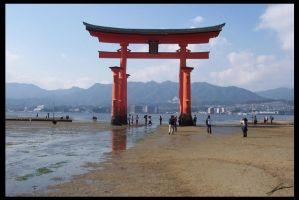 Torii to the Sea by IvanChristian