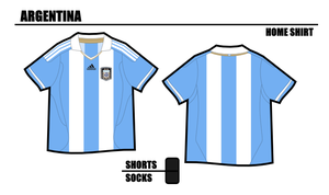 Argentina Home Shirt 2011 by miicho