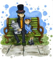 Layton and his Apprentice by Fred-Weasley
