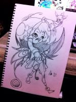 Sketch - Fairy by hiru-miyamoto