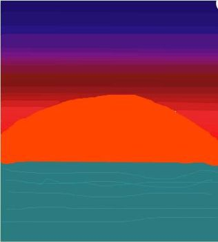 Sunset on iscribble by OddDreams101