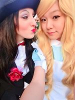 Zatanna and Alice in Wonderland by UndiciSmaug
