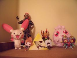 Papercraft collection 1 by Drawingdude1098