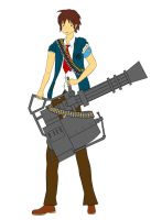 Team Fortress Parody Heavy Weapons Kyon WIP by Dumdodoor