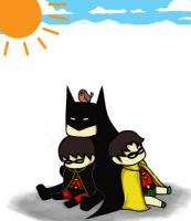 Bat Family: Nap Time by CrimsonHorror