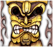 Day 2 - Sketch 2 - Angry Tiki by hardart-kustoms
