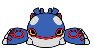 Kyogre Pokedoll Art Redesigned by methuselah-alchemist