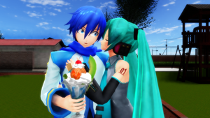 Valentines request 1 - MikuXKaito by JuliaDS