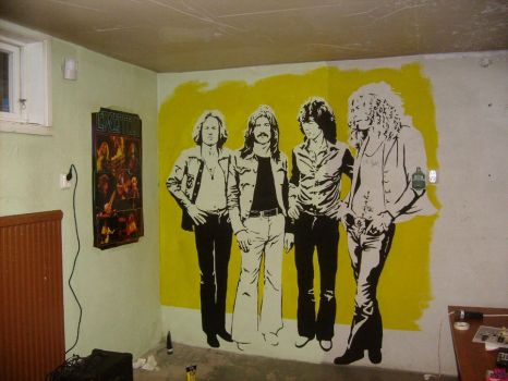 Led Zep Wallpainting WIP II by Burkpuk