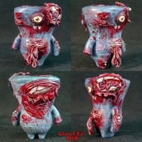 Zombie Wedgehead Uglydoll by Undead-Art