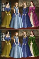Disney Princesses 2 Tudor Style by TFfan234