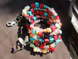 Mixed crystals bracelet by edelweiss-workshop