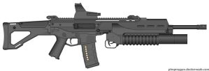 ACR with grenade launcher by jon646an2
