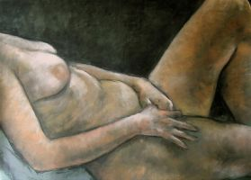 Reclining figure by Gilbs