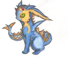Fakemon: Dragon Eevee by sandninjaGaara666