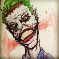 Joker Water Color by CodyCurtin