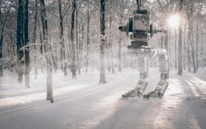AT-ST Walker in the Snow by twovanravman