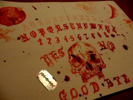 Ouija board work in progress by PriestofTerror