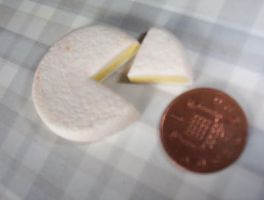 MINATURE  FOOD BRIE CHEESE by Victim-RED