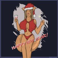 Lucy Happy new Year by Mightyboobs